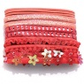 04078 Mixed Hair Elastic Set Peach 1 set