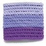 05136 Braided Hair Elastic Set Purple 1 set