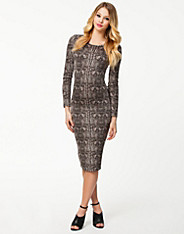 Alligator Below Knee Dress