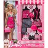 Barbie Doll and Fashion Set Beautiful Boutique 1 set Roosa